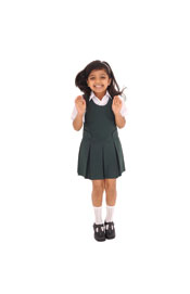 Girls Banner Pinafore Dress