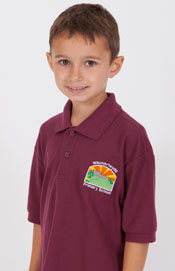 Waunarlwydd Primary School Burgundy Polo Shirt