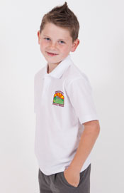 Waunarlwydd Primary School White Polo Shirt